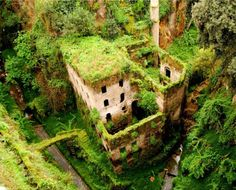 Sorrento Ruins, Italy. The oldest ruins are Oscan, dating from about 600 BC.