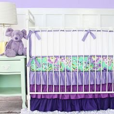 Purple Baby Bedding by CadenLaneBabyBedding on Etsy This is absolutely adorable!! I want purple if I had a baby girl