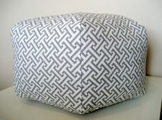 """18"""" Ottoman Pouf Floor Pillow Waverly Cross Section Charcoal. $85.00. These are so cute!"""