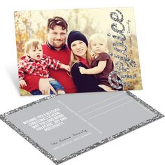 Groupon 40 75 or 110 custom 5x7 flat photo cards with christmas postcards time to rejoice in silver pear tree greetings m4hsunfo