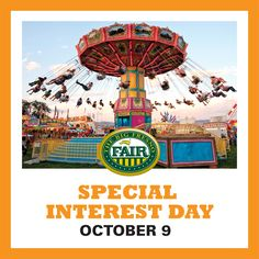 The Big Fresno Fair invites you to Special Interest Day on Mon, 10/9/17! On this day only, admission is FREE to persons with disabilities. One chaperone is admitted for free with each person that requires assistance. Make sure to head over soon, the Fair will open early at 9 a.m. on this day only! For more ways to save BIG at the 2017 Big Fresno Fair
