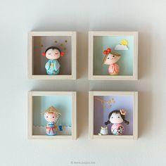 Miniature doll Kokeshi doll OOAK doll by JooJooTreasures on Etsy