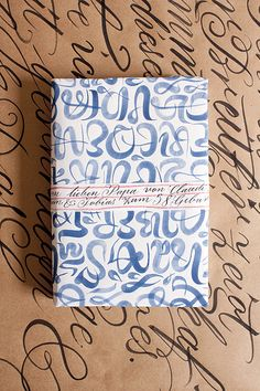 watercolor lettering wrapping paper.