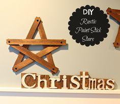 The Happy Housie- DIY Rustic Paint Stick Stars