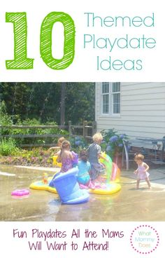 """I've attended hundreds of playdates over the past few years as a stay-at-home-mom and hosted my fair share of them at our house. One thing I've learned is that a playdate with a theme is always more popular than one without. Whereas a """"come hang out"""" playdate might get 3 or 4 Yes RSVPs from the moms in my SAHM …"""