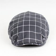 Fasbys Brand Berets Men Women Cotton Newsboy Gatsby Octagonal Ivy Caps Classic Herringbone Duckbill Flat Caps Plaid Beret Caps