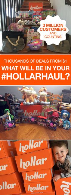 Find thousands of deals on brands you love and trust starting at just $1. Head to Hollar™ and score 50-90% off on our never-ending selection of categories: toys, beauty, home essentials, party supplies, electronics, apparel, and so much more! We're all about making shopping insanely fun—and keeping wallets happy.