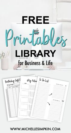Free Printables! Grab your access to the free Printables Library right here. With printables for your life and business, we have you covered. From To Do Lists to Etsy Shop printables to Birthday Gift Planners. Free Printable | Business Printables | Etsy Printables | Etsy Shop | To Do List | Meal Planner #freeprintables #freebies #printables www.michellesimpkin.com/join