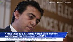 #CNE suspende a Alianza Verde para inscribir candidatos en elecciones del 2019