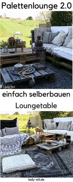 DIY Terrassenmöbel! Dieses Jahr gibt´s für uns eine Erweiterung der bestehenden Palettenlounge! Loungetable selberbauen,  Outdoormöbel selbermachen, Gartenmöbel bauen, Paletten upcyceln, Outdoorlounge,