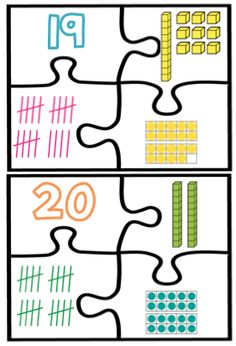 1 - 20 Number Puzzle Math Centre Help students to become number experts and practice representing numbers using place value, tally marks and ten frames!