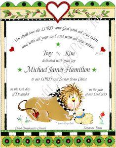 Christian Dedication Baby Gift  Baby Dedication by LindaPaigeTolis