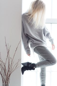 figtny.com | outfit • 69 Alternative Apparel Fairfax Sweats and Perfect Pima Tank | Isabel Marant Andrew Boots | Aritzia Montpellier Sweater #FallForUS