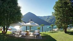 3000 m² Privatstrand direkt am Lago di Lugano