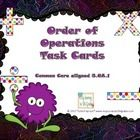 Order of operations task cards that are aligned with the 5th Grade Common Core State Standards (5.OA.1).  These would also be great for your advanc...