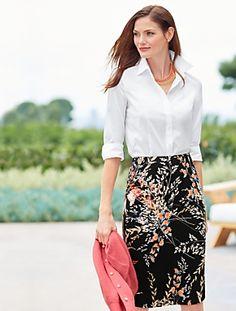 Talbots - Wispy Floral Pencil Skirt | $99 Spring 2015, on sale 4/25/15 $74