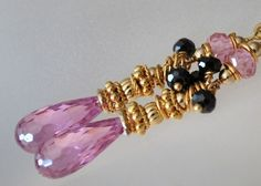 Beautiful Sparkling Earrings with Pink Zircon and by ChaninBijoux, $85.00