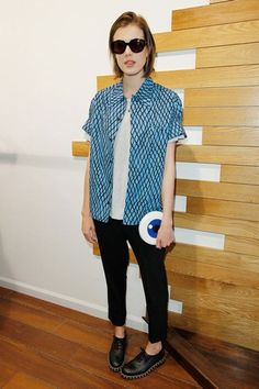 Don't be afraid to go boyish like Agyness Deyn, it's your fast-track ticket to being an effortless Brit-girl. Girl Fashion, Fashion Outfits, Ladies Fashion, Fashion Styles, Boyish Girl, Agyness Deyn, Model Look, Shabby Chic Style, Style Icons