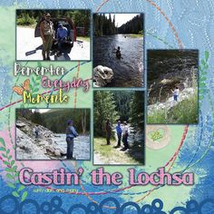 Castin' the Lochsa uses Janet Scott Design's portion of the Good Day collab at PixelScrapper.com.