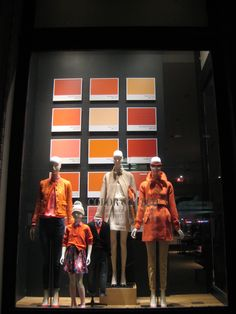 A/W12 ✯NYC✯ Visual Merchandising COLOR COATED