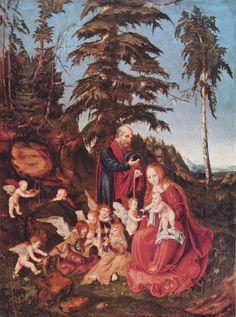 Отдых на пути в Египет, 1504 - Лукас Кранах Старший