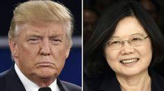 El presidente electo de EEUU, Donald Trump, y la presidenta de Taiwán,Tsai Ing-wen