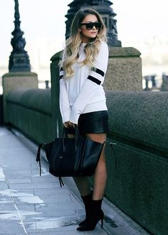 I'd never pull this off but I love it 😍 #sportsluxe #newlook