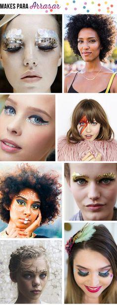 Dicas para o Carnaval | Maquiagens, Penteados e Looks #moda #inspiração #penteado #maquiagem #dicas #carnaval #blog #looknowlook