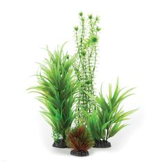 Transform your tank into a beautiful underwater garden with Top Fin Artificial Aquarium Plant Variety Pack.