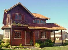 Casa pré fabricada de madeira