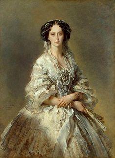 Franz Xaver Winterhalter (1805–1873), Portrait of Empress Maria Alexandrovna, 1857
