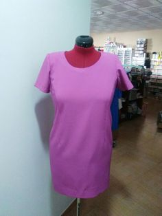 Vestido lila Shirt Dress, T Shirt, High Neck Dress, Dresses, Fashion, Lilac Dress, Tejidos, Supreme T Shirt, Turtleneck Dress