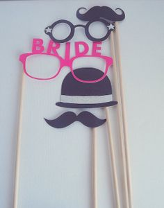 Wedding Photo Booth Props Bride mustaches by RepublicOfParty, $8.10