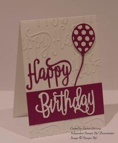 Stampin Up Happy Birthday die, Balloon Pop-Up Thinlits die