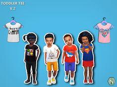TODDLER TEES V.2 • 6 Tees • Base game compatible • Custom thumbnail • Boys & Girls Download: [SIMFILESHARE] || [MEDIAFIRE] Credits: MAXIS EA & SIMS 4 STUDIO (WISHES) I follow the tags #niteskky &...