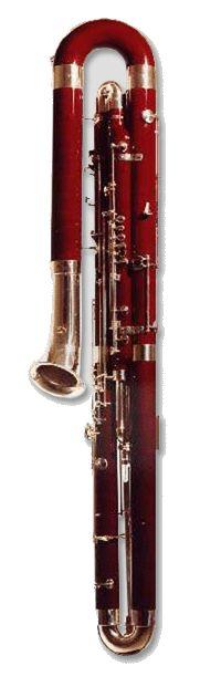 Heckel Contrabassoon, Key of C same fingerings as Bassoon, sounding Octave lower