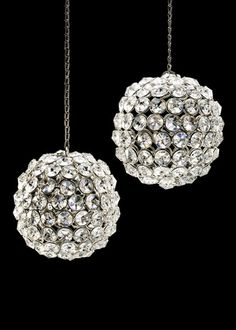 Crystal Bead Hanging Disco Ball Wedding Party Reception Decorations