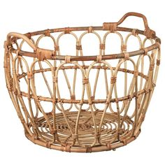 IKEA - SNIDAD, Basket, rattan, This braided basket has a unique look since each basket is handmade. You can also use the basket in damp areas such as the bathroom. The included plastic feet protect the floor against scratching. Ikea Basket, Rattan Basket, Storage Boxes, Storage Baskets, Quilt Storage, Chalet Design, Coastal Living Rooms, Ikea Furniture