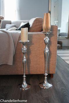 ChandelierHome: Rustiikkinen kuusi & kynttilänjalat lattialle Flute, Champagne, Tableware, Inspiration, Ideas, Home, Biblical Inspiration, Dinnerware, Tablewares