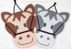 034 Horse Crochet Pattern. Decor or Potholder. by LittleOwlsHut