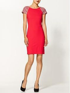 Erin Fetherston Ponte Dress With Embellished Cap Sleeve | Piperlime