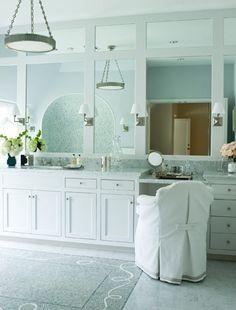 Exceptional Courtney Hill Interiors   Portfolio   Bathrooms. White Bathroom MirrorWhite  Bathroom CabinetsFramed ...
