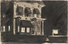 Edward Hopper (1882–1967), Study for Rooms for Tourists, 1945