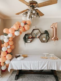 1 year old sweet peach birthday! 1 Year Old Birthday Party, 1st Birthday Party For Girls, 1st Birthday Themes, First Birthday Decorations, Girl Baby Shower Decorations, First Birthday Photos, Birthday Balloons, Baby Birthday, Birthday Ideas