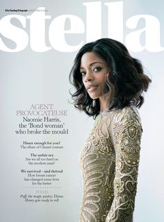 Black Beauty and Style in the British Media – October/November 2012: Leading Ladies, Cooking Connoisseurs and Brit Fashionistas! Naomie Harris for Stella magazine