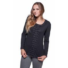 Κλασσική μακρυμάνικη μπλούζα με δαντέλα 942d42155bb