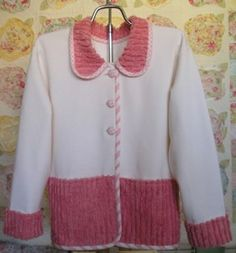 ideas sweatshirt jacket diy ideas for 2019 Quilted Sweatshirt Jacket, Sweatshirt Jackets Diy, Sweatshirt Refashion, Sweatshirts, Redo Clothes, Sewing Clothes, Sweatshirt Makeover, Altered Couture, Jacket Pattern