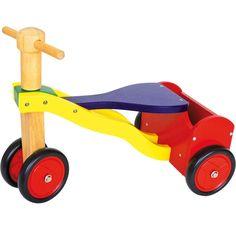 MOVI50.01.Juguete triciclo de madera para niños con maletero para estimular la motricidad