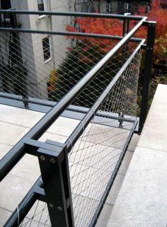 Guardrail corner and baluster detail