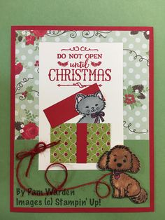 Stampin' Up! Christmas, Pretty Kitty and Bella & Friends